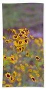 Perky Golden Coreopsis Wildflowers Bath Towel
