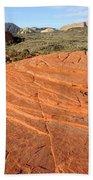 Petrified Sand Dunes - Snow Canyon Utah  Bath Towel