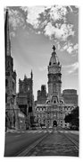 Philadelphia City Hall Bw Bath Towel