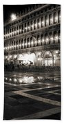 Piazza San Marco At Night Venice Bath Towel