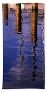 Pier Reflections Bath Towel