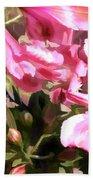 Pink Alstroemeria  Bath Towel