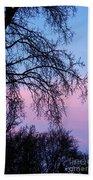 Pink Blue Sky Hand Towel