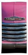 Pink Chevrolet Truck Bath Towel