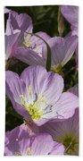 Pink Evening Primrose Wildflowers Bath Towel