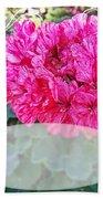 Pink Geranium Greeting Card Blank Bath Towel