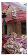Pink Umbrella And Garlic Bath Towel