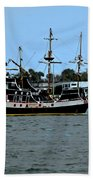 Pirate Ship Of The Matanzas Hand Towel