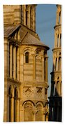 Pisa Tower And Cathedral Bath Towel