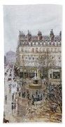 Pissarro: Theatre Francais Bath Towel