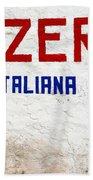 Pizzeria Advertising Sign Bath Towel