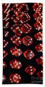 Playing Dice Being Rolled Bath Towel