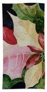 Poinsettia Bath Towel