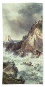 Point Lobos At Monterey In California Hand Towel