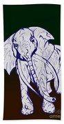 Pointillism Elephant Bath Towel