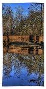 Pond Reflections Bath Towel