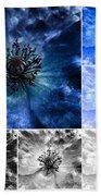Poppy Blue - Macro Flowers Fine Art Photography Bath Towel
