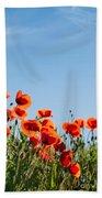 Poppy Flowers 01 Hand Towel by Nailia Schwarz
