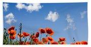 Poppy Flowers 05 Bath Towel