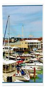 Portland Maine Harbor Bath Towel