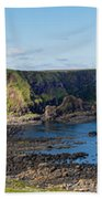 Portnaboe Bay At Giants Causeway Bath Towel