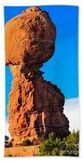 Portrait Of Balance Rock Bath Towel