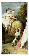 Portraits Of The Children Of The Rev. Joseph Arkwright Of Mark Hall Essex Bath Towel