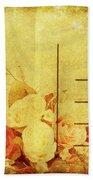 Postcard With Floral Pattern Bath Towel
