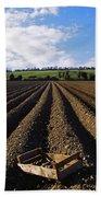 Potato Field, Ireland Bath Towel