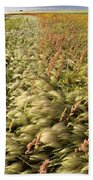 Prairie Crop With Weeds Bath Towel