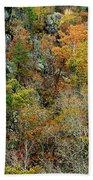 Prarie Hollow Gorge In Autumn Bath Towel