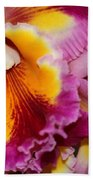 Pretty And Colorful Orchids Bath Towel