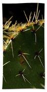 Prickly Pear Dangerous Beauty - Greeting Card Bath Towel