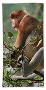 Proboscis Monkey Nasalis Larvatus Male Bath Towel