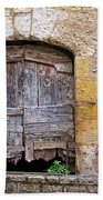 Provence Window And Wall Painting Bath Towel