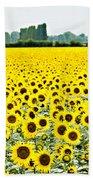 Provencial Sunflowers Bath Towel
