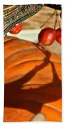 Pumpkin Berries Bath Towel