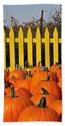 Pumpkin Corral Bath Towel