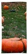 Pumpkin Field Bath Towel