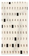 Punch Card Hand Towel
