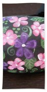 Purple And Pink Flowers Bath Towel