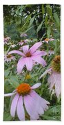 Purple Coneflowers Bath Towel