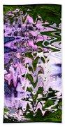 Purple Daisies World - Abstract Art Bath Towel