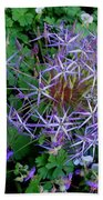 Purple Flower Sphere Bath Towel