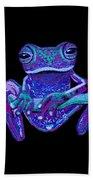 Purple Ghost Frog Bath Towel