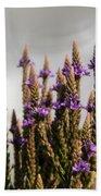 Purple Wildflowers  Bath Towel