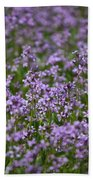 Purple Wildflowers Square Bath Towel