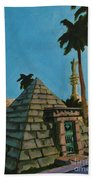 Pyramid Tomb In Cemetary Hand Towel