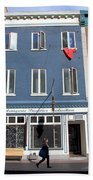 Quebec City Street View Bath Towel