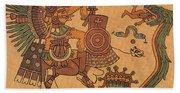 Quetzalcoatl, Aztec Feathered Serpent Bath Towel